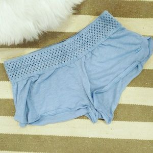NWOT O'Neill Cloth Crochet Top Shorts Blue